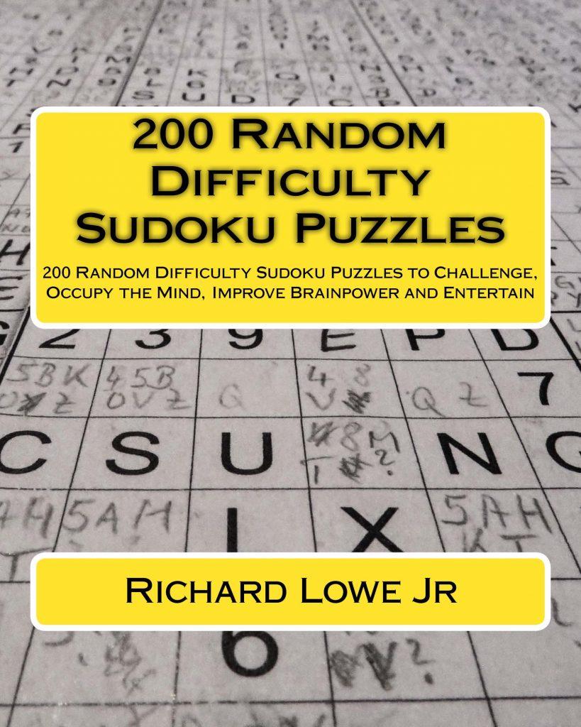 200 Random Difficulty Sudoku Puzzles