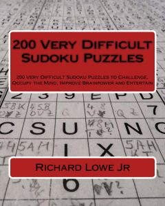200 Very Difficult Sudoku Puzzles