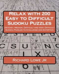 Relax with 200 Easy to Difficult Sudoku Puzzles