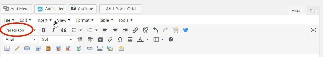Style menu for wordpress posts